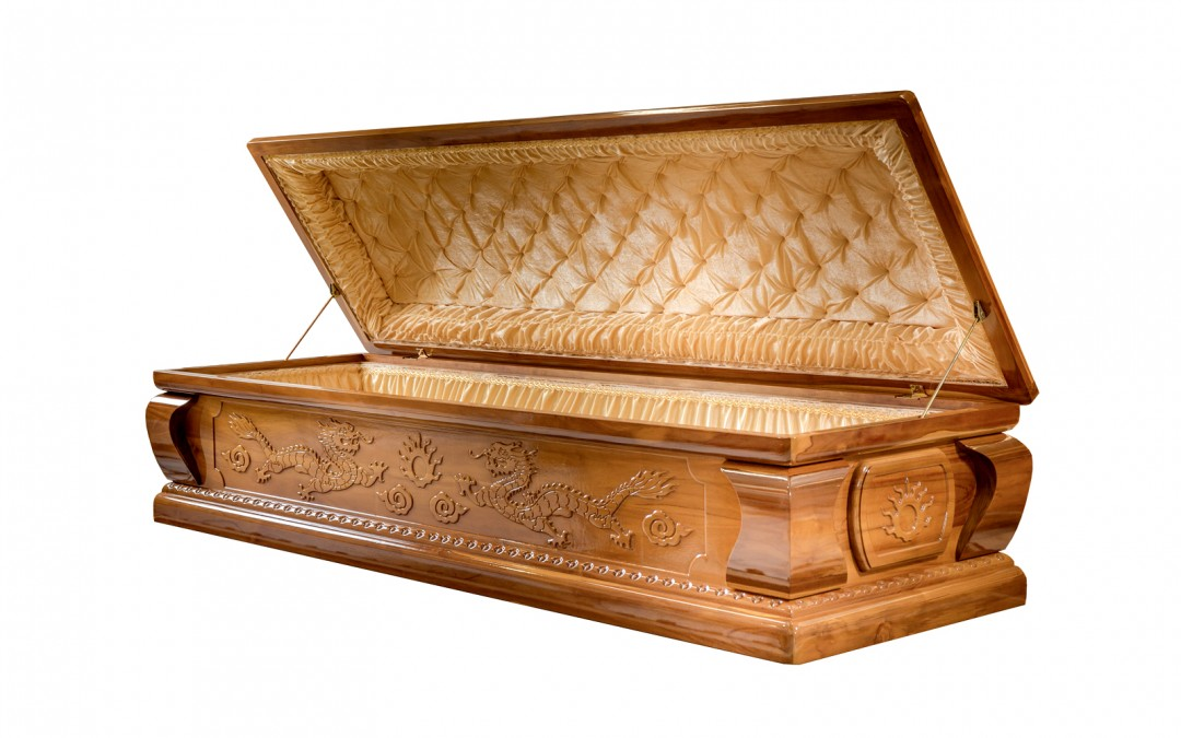Handcrafted Dragon Casket - Exterior